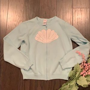 🌸Gymboree 10/12 zip seashell sweater